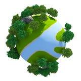 flod för planet 3D Royaltyfri Fotografi