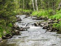 Flod för Ural berg Arkivbilder