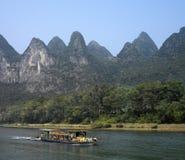 flod för limestone för li för porslinguilin karst Arkivbild