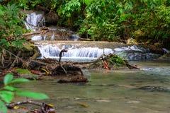 Flod från den Saluopa vattenfallet i Tentena Arkivbilder