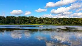 Flod från lutningen Royaltyfri Fotografi