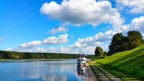 Flod från lutningen Fotografering för Bildbyråer
