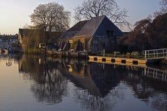 Flod Frome Wareham Arkivfoton