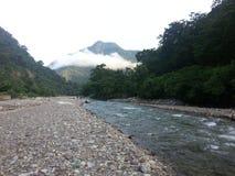Flod Ganga, Rishikesh Arkivfoton