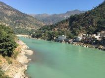 Flod Ganga Rishikesh Royaltyfria Foton