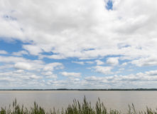 Flod Gironde Frankrike Fotografering för Bildbyråer