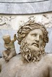 Flod-guden Nile Greek Neilos Pio-Clementino museum, Vatican City Arkivfoton