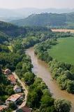 Flod Hron, Slovakien arkivbild