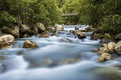 Flod i Aurland, Norge Fotografering för Bildbyråer
