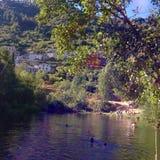 Flod i berg Royaltyfria Bilder