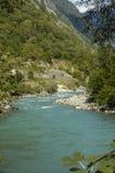 Flod i berg Arkivfoto