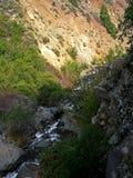 Flod i bergen arkivfoto