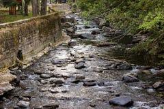 Flod i Borjomi Fotografering för Bildbyråer