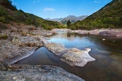 Flod i Corsica Fotografering för Bildbyråer