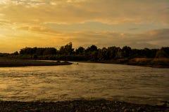 Flod i georgia Royaltyfri Foto