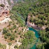 Flod i kanjonen royaltyfria foton