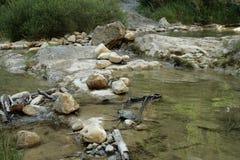 Flod i Klyfta de Galamus, Frankrike Royaltyfri Foto