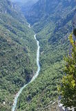 Flod i Klyfta du Verdon arkivfoto
