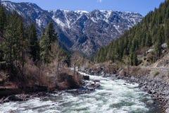 Flod i Leavenworth fotografering för bildbyråer