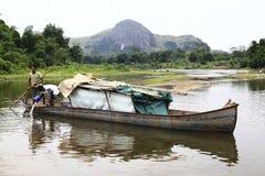 Flod i Madagascar Arkivbild