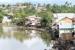 Flod i Manado Royaltyfria Bilder