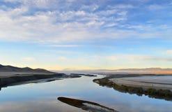 Flod i morgonen Royaltyfria Bilder
