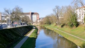 Flod i Nancy, Frankrike stock video