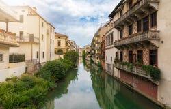 Flod i Padova, Italien Royaltyfri Fotografi