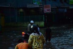 Flod i palembang Royaltyfria Bilder