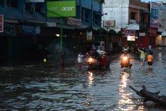 Flod i palembang Royaltyfri Bild