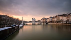 flod i Paris Royaltyfria Foton