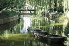 Flod i Peking Arkivbild