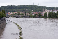 Flod i Prague Royaltyfri Foto