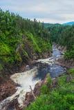 Flod i quebec Kanada Royaltyfria Bilder