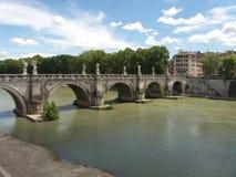 Flod i Rome Royaltyfria Foton
