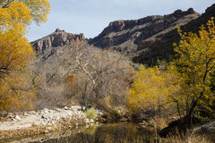 Flod i Sabino Canyon arkivfoto