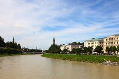 Flod i salzburg Arkivbild