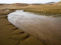 Flod i sanden arkivfoton