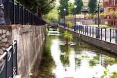 Flod i Scafati, Italien royaltyfri bild