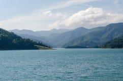 Flod i Serbien Fotografering för Bildbyråer