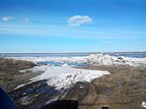 Flod i Siberia Royaltyfria Foton