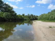 Flod i sommar Royaltyfria Foton