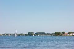 Flod i sommar för holland ferienatur Arkivbilder