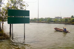 Flod i Thailand Arkivbilder