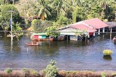 Flod i Thailand på Oktober 2012 Royaltyfria Foton