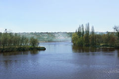 Flod i Vinnitsa, Ukraina Arkivbilder
