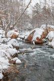 Flod i vinter Royaltyfria Foton