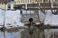 Flod Iset Fotografering för Bildbyråer