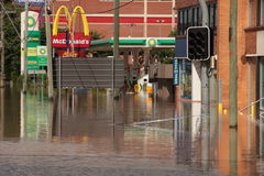 flod jan för 13 Australien brisbane royaltyfri foto