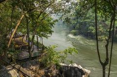 Flod Kwai i Kanchanaburi Royaltyfria Foton